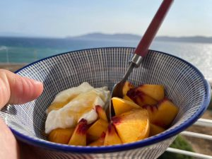 Yoghurt med persika